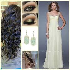 hairstyle sleek ponyl turtleneck gown la femme 20678 prom dress prom 2016 smokey eye eye makeup