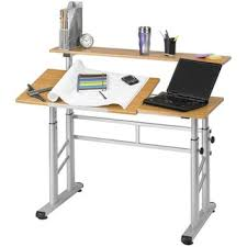 safco height adjustable split level office desk drafting table architect office supplies