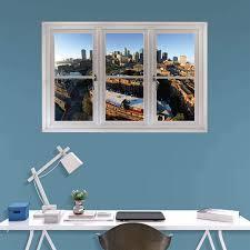 boston skyline scenic window wall decal wall decals at hayneedle