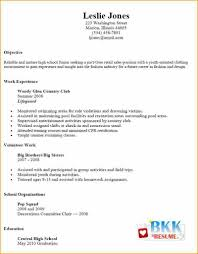 Unique Examples Of Resumes For Jobs Resume Examples For Part Time