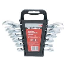 <b>Набор ключей рожковых MATRIX</b>, 6 х 17 мм, 6 шт., CrV ...