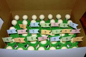 Golf Ball Decorations Kelly Roberts Designs FORE Golf Cake and Golf Cupcakes 81