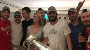 Image result for OVechkin with stanley Cup
