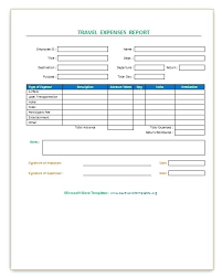 Travel Expense Report Mileage Log Templates Template Excel