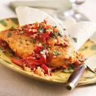 bistro chicken with peppers