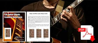 Guitar Chord Finger Chart Printable Guitar Chords Chart For Beginners Free Pdf Download