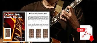 Guitar Tab Chart Pdf Guitar Chords Chart For Beginners Free Pdf Download