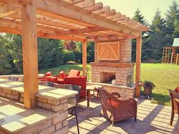 patio with fire pit and pergola. Farmhouse Style Outdoor Living Space In Mason, OH Patio With Fire Pit And Pergola A
