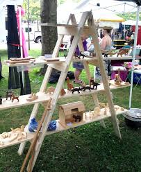 how to make portable tables for craft shows your own ladder