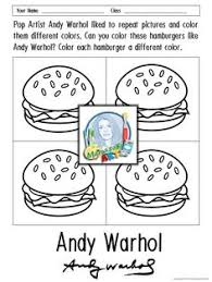 Small Picture Andy Warhol Coloring Sheets Pop Art Pinterest Warhol