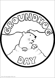 Small Picture Groundhog Day color page Coloring pages for kids Holiday