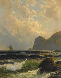 alfred thompson bricher painting grand manaan by alfred thompson bricher