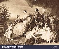 La regina Vittoria e il Principe Alberto e famiglia gruppo, 1848 Foto stock  - Alamy