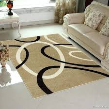 brown beige modern geometric circle design area rug 2 pattern rugs circle area rug