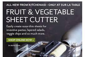 kitchenaid vegetable sheet cutter. fruit \u0026 vegetable sheet cutter (all-new from kitchenaid) kitchenaid r