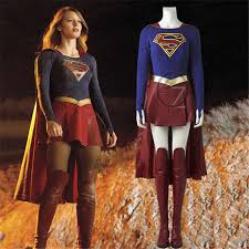 <b>Supergirl Cosplay Costume</b> Outfit Movie Superhero Halloween ...