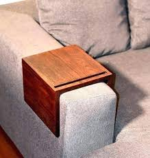 couch arm tray table custom sofa handmade wooden wood device holder stand trays and arms armrest couch sofa arm rest