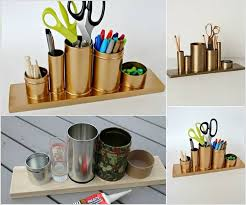 A Glamorous Gold Pencil Holder 1