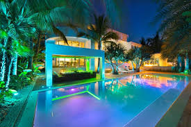modern lighting miami. High End Luxurious Modern Mansion With Colorful Lighting Located In Miami