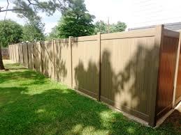 Vinyl Privacy Fence Tan Privacy Vinyl Fencing Tan Fence Nongzico