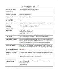 Incident Investigation Report Template Post Unique Form