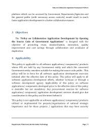 policy on collaborative application development by opening the source   7