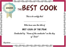 Cooking Certificate Template Magnificent Best Cook Certificate Cook Certificate Pinterest Cooking