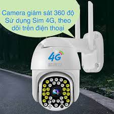Camera 4G giám sát 360 độ sử dụng Sim 4G Full HD 1080P ngoài trời