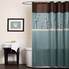 cool fabric shower curtains. Amazing Brown And Blue Cool Shower Curtains With Photo On Wall Also Lowes Sidetable Dark Fabric S