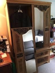 antique wardrobe with drawers antique wardrobe mirrored doors 3 drawers antique triple wardrobe with drawers