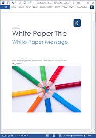 Free White Paper Template White Paper Template For Learning Education Training Ms