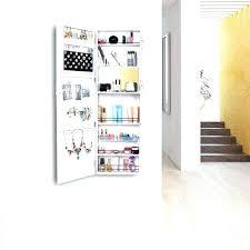 mirrored makeup storage makeup wall organizer mirrored jewelry wall cabinet storage makeup organizer hang mount white