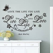 family wall art live the life you love wall sticker quotes art words home decorative butterflies and flowers wall decals for bedroom on wall art words stickers with wall art designs family wall art live the life you love wall