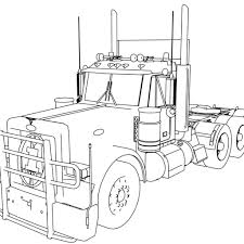 amazing semi truck coloring pages peterbilt truckg big trucks page magnific on