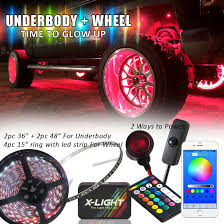 Kingwin Cold Cathode Light White Car Truck Led Wheel Ring Lights Led Under Body Glow Lights Color Shift Changing