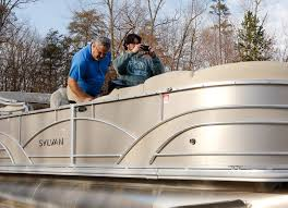 a pontoon boat gets a serious stereo upgrade with a new stereo speakers subwoofer and amplifier