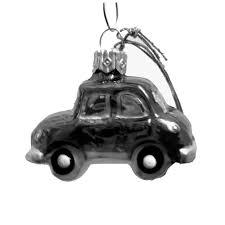 Tollkühn Christbaumschmuck Auto Schwarz Mini Dekoration