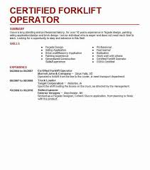 Certified Forklift Operator Resume Sample LiveCareer Unique Forklift Resume