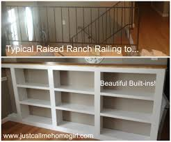 Raised Ranch Living Room Decorating When We Moved Into Our Raised Ranch I Saw These Railings And I