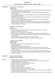 Payroll Manager Resume Sample Payroll Tax Manager Resume Samples Velvet Jobs