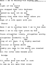 Light Of The World You Stepped Down Into Darkness Song Christian Chlidrens Song Here I Am To Worship Tim Hughes Crd