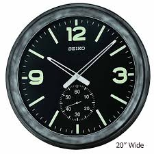 detailed image of seiko qxa627klh devon large wall clock