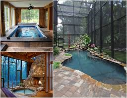 indoor pool. Unique Pool With Indoor Pool