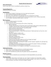Resume Job Duties Examples