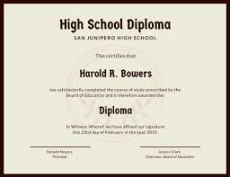 School Certificate Templates Fascinating Burgundy And Cream High School Diploma Certificate Templates By Canva