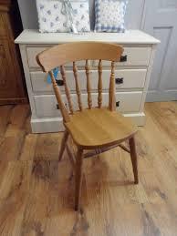 Farmhouse Kitchen Furniture Beech Spindle Back Farmhouse Kitchen Chairs