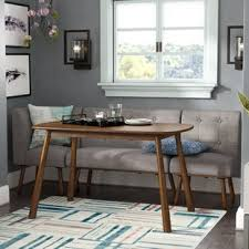 Dining nook furniture Leather Bucci Piece Breakfast Nook Dining Set Wayfair Dinettes Breakfast Nooks Youll Love Wayfair