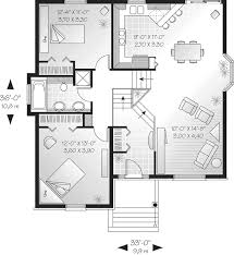 Savona Cliff Split Level Home Plan D    House Plans and MoreCraftsman House Plan First Floor   D    House Plans and More