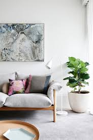 A Large Plants Decoration Next to jardan wilfred sofa