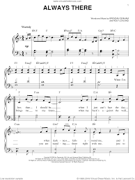 always there sheet for piano solo